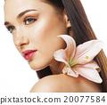 woman, flower, female 20077584