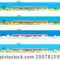 火车 电气列车 矢量图 20078159
