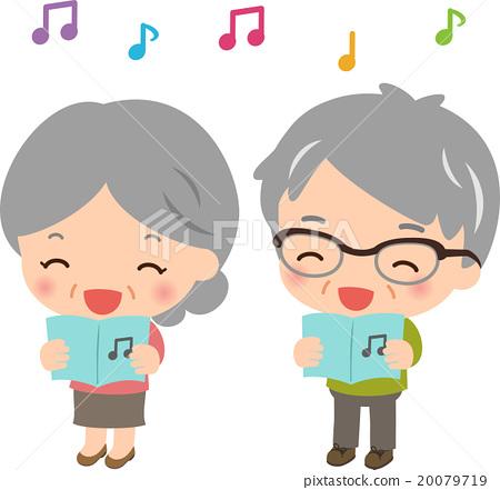 sing, senior, aged 20079719