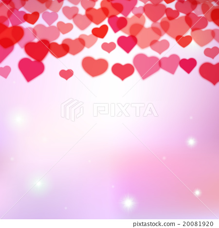 Valentines Day background with scattered hearts - Stock ...