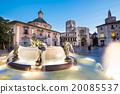 Square of Saint Mary's, Valencia, Spain. 20085537