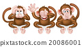 Three Wise Monkeys 20086001