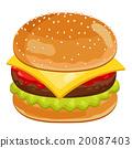 Burger on white background. 20087403