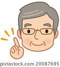 고령자, 가리키다, 얼굴 20087695