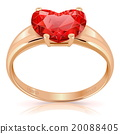 Vector Golden Ring with Ruby 20088405