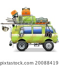Vector Travel Car with Camping Accessories 20088419
