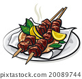 greek meat kebabs 20089744