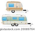 trailer caravan vector illustration 20089764