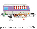 trailer camp caravan vector illustration 20089765