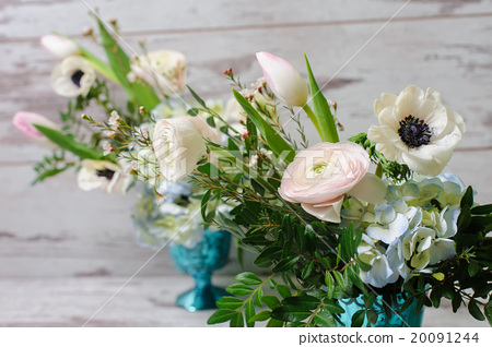 Stock Photo: Bouquets of fresh flowers