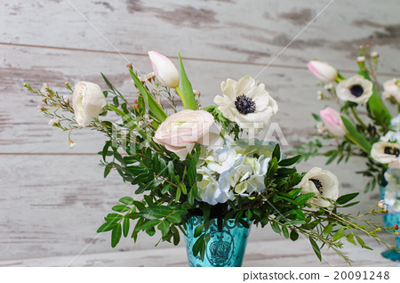Stock Photo: Two bouquets of fresh flowers