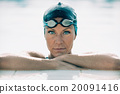 Portrait of a female swimming champion 20091416