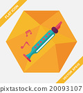 Recorder flat icon with long shadow,eps10 20093107