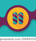 flip flop flat icon with long shadow,eps10 20094559