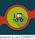 Transportation moving truck flat icon with long shadow,eps10 20096472