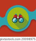 Binoculars flat icon with long shadow 20098975