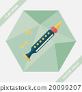 Recorder flat icon with long shadow,eps10 20099207