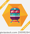 Transportation subway flat icon with long shadow,eps10 20099264