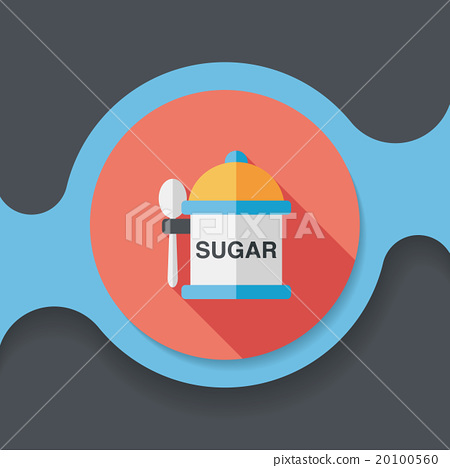 kitchenware sugar flat icon with long shadow,eps10 20100560