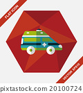 Transportation ambulance flat icon with long shadow,eps10 20100724