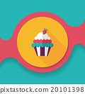 cupcake flat icon with long shadow,eps10 20101398