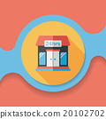 Building convenient store flat icon with long shadow,eps10 20102702