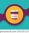 takeaway coffee flat icon with long shadow,eps10 20103133
