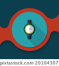 Wristwatch flat icon with long shadow 20104307