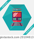 Transportation train flat icon with long shadow,eps10 20104613