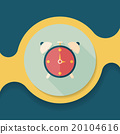 alarm clock flat icon with long shadow,eps10 20104616