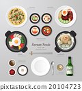 Infographic Korea foods business flat lay idea. 20104723
