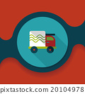 Transportation truck flat icon with long shadow,eps10 20104978
