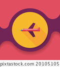 airplane flat icon with long shadow,eps10 20105105