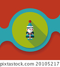 Christmas boy flat icon with long shadow,eps10 20105217