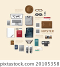 Infographic fashion design flat lay idea. Vector  20105358