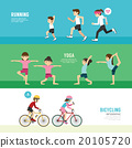sports design health concept people exercise set 20105720