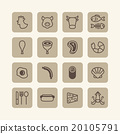 Vector flat icons set of foods outline concept. 20105791