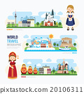 Travel and outdoor Europe Landmark Template  20106311