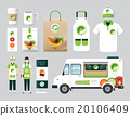 Vector organic restaurant design set street food 20106409