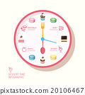 Infographic watch and bakery flat icons idea. 20106467