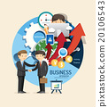 Boy learn business and finance design infographic 20106543