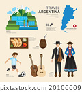 Travel Concept Argentina Landmark Flat Icons  20106609