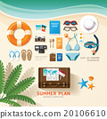 Infographic travel planning a summer vacation 20106610