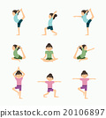 Vector yoga set illustration. girl yoga exercises. 20106897