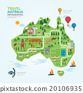 Infographic travel and landmark australia map  20106935