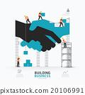 Infographic business handshake shape template  20106991