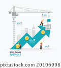 Infographic business arrow shape template design. 20106998