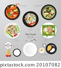 Infographic Thai foods business flat lay idea.  20107082