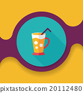iced drink flat icon with long shadow,eps10 20112480