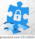 puzzle, data, padlock 20116093